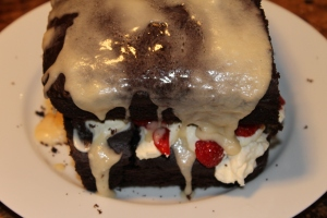 Our terrifying attempt at making a cake!